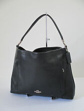 Coach 100% Authentic Scout Black Leather Hobo Shoulder Bag 34312