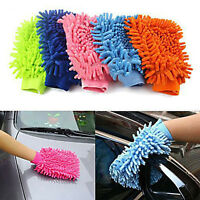 1pc Microfiber Cleaning Cloth Duster Towel Gloves for Car Window Washing
