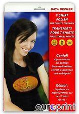 Data Becker Original T-Shirt-Folien für dunkle Textilien 5 Blatt
