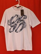 NWT GUCCI WHITE COTTON GG BELTS HORSEBIT LOGO SHORT SLEEVES T- SHIRT XL