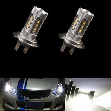 2X 80W H7 LED WHITE 6500K BULBS HEADLIGHT LIGHT LAMP CANBUS ERROR FREE