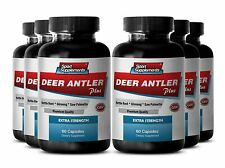 Elk Antler Velvet Powder - Deer Antler Plus 550mg - Aging Male Sex Booster 6B