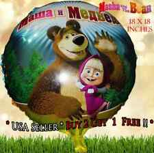 Cute Masha and the Bear Celebration Happy Birthday Party Balloon Supply
