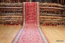 17 FT. LONG fine quality handmade hand knotted Persian Rose color hall runner