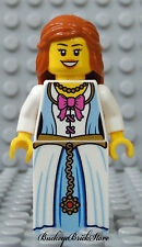NEW Lego Minifig Female PRINCESS Pirate Castle Girl with Dark Orange Hair