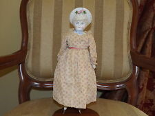 1880's Germany Bisque and Bonnet Head Hettie Doll 14 in.