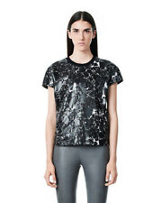 NWT $518 Balenciaga Marble Short Sleeve Top Tee Blouse Crackle [SZ XL] #125