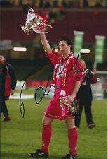 Robbie FOWLER Signed Autograph FA Cup Winning Photo AFTAL COA Liverpool Anfield