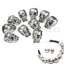10Pcs Métal CRÂNE Perles Bijoux Intercalaires Acrylique TÊTE pr Bracelet Charms