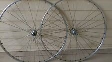Rare Vintage Wheelset Campagnolo Record Hubs Fiamme 700c Rims (Super Record?)