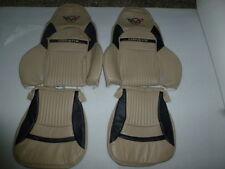 1997-2004 C5 Corvette Genuine Leather Light Oak  & Black Covers for Sport Seats