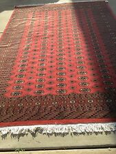 7x10 hand knotted oriental rug Copper 100% Wool Pile Bokhara Design.