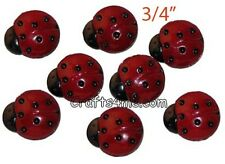 "12 Ladybug Buttons Sewing Buttons 3/4"" (FEL2009)"