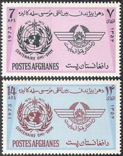 Afghanistan 1973 Meteorology Organization/WMO/IMO/Weather/UN 2v set (n29381)