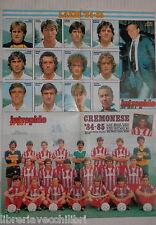 POSTER INTREPIDO LAZIO E CREMONESE 1984 1985 Calcio Sport Squadre Giocatori di