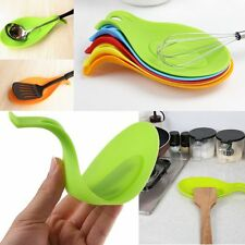 New Silicone Spoon Rest Heat Resistant Kitchen Utensil Spatula Cooking Tool