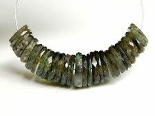 Natural Green Tourmaline Faceted Wheel Heishi Gemstone Beads