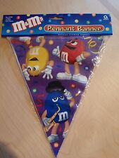 M&M  M&M'S PENNANT BANNER PARTY NEW 12 FOOT LONG BIRTH DAY FLAG STRING BANNER