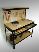 Work Bench Garage Repair Tool Storage Furniture Stand Case DIY Workshop Pegboard
