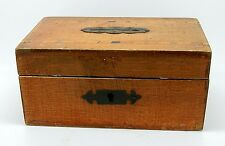 Antique English Wooden Parquetry Coin Bank Money Box England