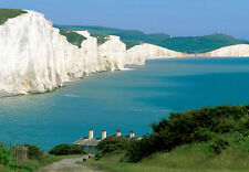 Seven Sisters - East Sussex Travel Holiday A3 Art Poster Print