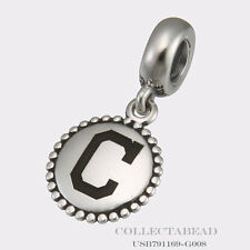 Authentic Pandora Sterling Silver Cleveland Indians Charm Dangle  USB791169-G008
