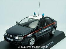 FIAT BRAVA 2001 CAR 1/43RD SCALE POLICE BLUE/WHITE COLOUR EXAMPLE BXD T3412Z(=)