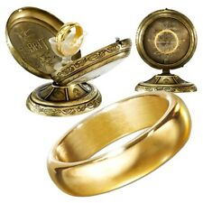 The Hobbit The One Ring Replica with Display Case - Cast Metal Gold Unetched