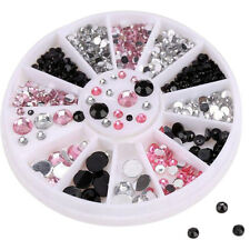 3D Nail Art Tips gems  colourful Crystal Glitter Rhinestone DIY Decoration RO
