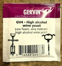 GERVIN HEFE WINE YEAST HIGH ALCOHOL 21% GERVIN   YEAST WINE von Muntons !!