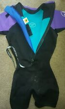 Body Glove Wetsuit Womens S-5 Neoprene Black Purple Swim Surf Dive Scuba Ski Wet