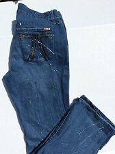 Women's Seven7 Paint Splattered Boot Cut Jeans Size 18