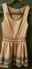 topshop ivory music note dress size 8 limited edition