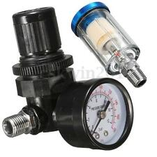 Spray Gun Regulator Air Compressor Pressure Gauge+In-line Water Trap Filter Tool