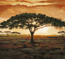 AFRICA AFRICAN ART PRINT - Masai Tree by Madou LANDSCAPE 19.5x19.5 Poster