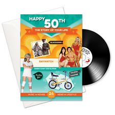 Happy 50th Story of Your Life 24 Page Booklet Greeting Card and Pop CD Download