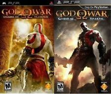 2 Sony PSP Games GOD OF WAR: Ghost of Sparta & Chains of Olympus NEW Action