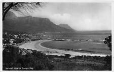 RPPC GENERAL VIEW OF CAMPS BAY CAPE TOWN SOUTH AFRICA REAL PHOTO POSTCARD