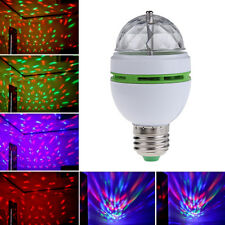 E27 3W Colorful Auto Rotating RGB LED Bulb Stage Light Party Lamp Disco Bulb
