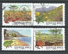 ˳˳ ҉ ˳˳SW30 Sweden Sverige Complete set 2009 Landscape Frog Mouse Flowers