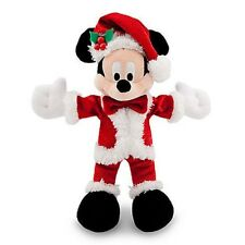 """DISNEY PARKS AUTHENTIC ORIGINAL 7"""" HOLIDAY SPARKLE MICKEY MOUSE PLUSH W/GIFT TAG"""