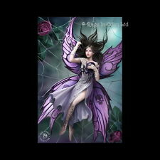 *SILK LURE* Goth Fantasy Spider Fairy Art 3D Postcard By Anne Stokes (15x10cm)