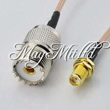 8in UHF SO239 female jack to SMA female with nut Pigtail Jumper cable RG316 G