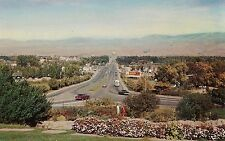 Looking Down Capitol Boulevard in Boise ID Postcard