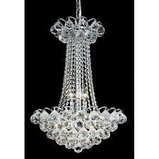 "Palace Blossom 23"" 9 Light Crystal Chandelier Light - Chrome"