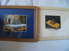 2 Framed Pictures American Classic Cars Ref 500