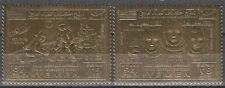 Yemen Kgr 1969 ** Mi.893/94 A Space Weltraum, gold foil issue perforated