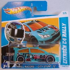 Hotwheels (2012) CITROEN C4 RALLY - BLUE - #198/247 - 1/64 - THRILL RACERS
