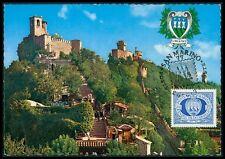 SAN MARINO MK 1977 3 TÜRME TOWERS MAXIMUMKARTE CARTE MAXIMUM CARD MC CM bg44