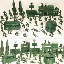 56pcs Military Missile Base Army Men Model Playset Toy Soldier Green 5cm Figure